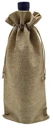 Ankirol 10pcs Burlap Bottle Bags With Drawstring Gift Packaging Wine Bags 6x14 inch Reusable Bottle Wrap Dresses Pouches (wine bags)