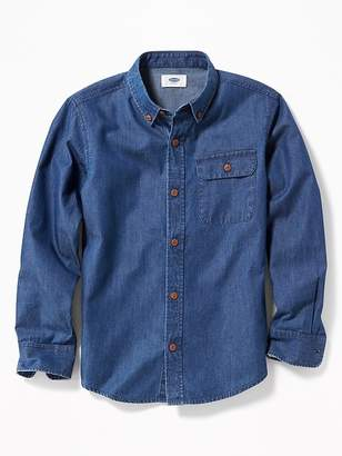 Old Navy Button-Down Collar Pocket Shirt for Boys