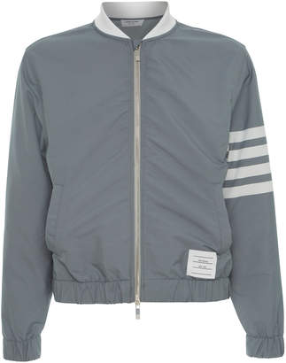 Thom Browne Striped Technical Bomber Jacket