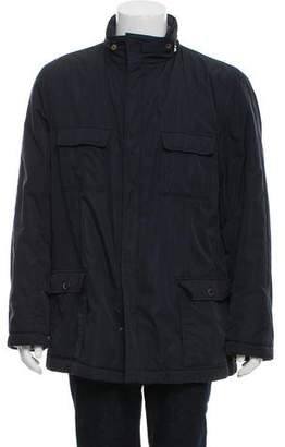 Battistoni Hooded Mock Neck Coat
