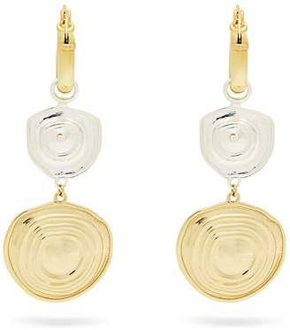 Ellery Aegean brass drop earrings