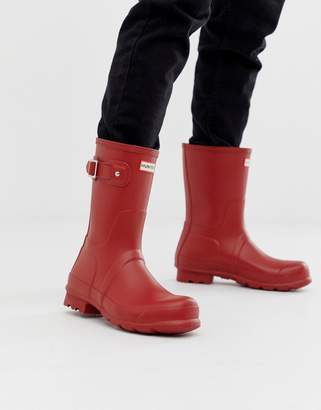 Hunter short wellies in red