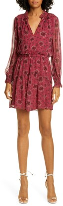 BA&SH Gizel Long Sleeve Ruffle Hem Minidress