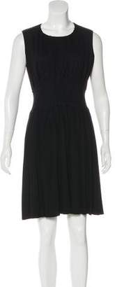 Prada Sleeveless Pleated Dress