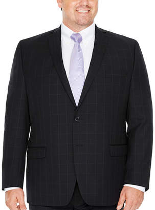 COLLECTION Collection by Michael Strahan Black WIndowpane Classic Fit Suit Jacket-Big and Tall