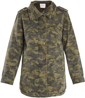 Irene camouflage-print point-collar jacket