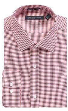 Tommy Hilfiger Slim Fit Gingham Cotton Twill Dress Shirt