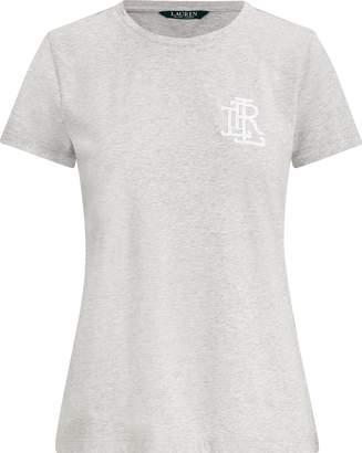 Ralph Lauren Beaded-Monogram Cotton T-Shirt