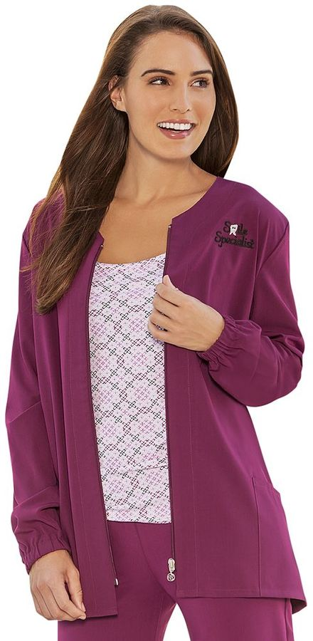 Jockey scrubs solid warm-up jacket - women's