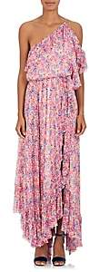 Philosophy di Lorenzo Serafini Women's Floral Chiffon One-Shoulder Maxi Dress-Pink
