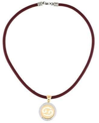 Bvlgari Two-Tone Cancer Zodiac Pendant Necklace