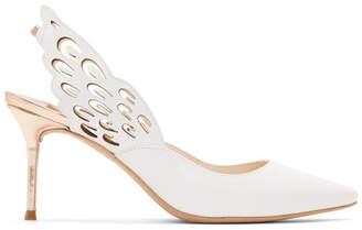 Sophia Webster White Angelo Wing Heels