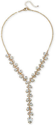 "Badgley Mischka Crystal Lariat Necklace, 18"" + 3"" extender"