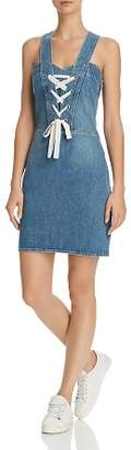 Paige Tula Lace-Up Denim Dress