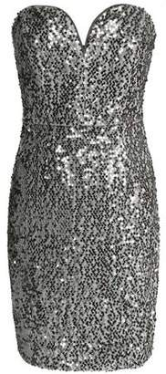 Milly Strapless Sequined Crepe Mini Dress