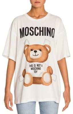 Moschino Oversized Bear Logo Tee $225 thestylecure.com
