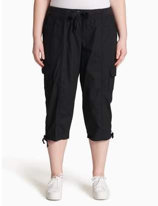 Calvin Klein plus size performance cargo cropped pants