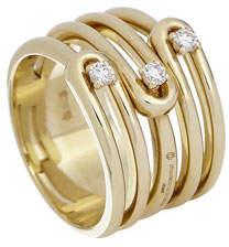 anima ISTANBOULLI GIOIELLI 18k 5-Row Diamond Ring, Size 7.5