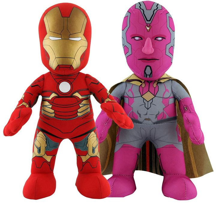 Bleacher creatures Marvel Avengers Iron Man & Vision 10-in. Plush Figure Dynamic Duo Set by Bleacher Creatures