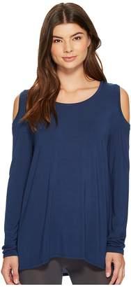 Lysse Cold Shoulder Top Women's Long Sleeve Pullover