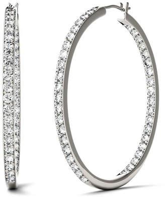 Charles & Colvard Moissanite Hoop Earrings (2-1/3 ct. t.w. Diamond Equivalent) in 14k White Gold