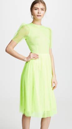 EWA Herzog Puff Sleeve Midi Dress