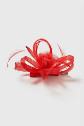 Wallis Red Clip Fascinator