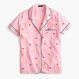 J.Crew Tipped pajama top in fruit salad