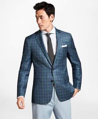Brooks Brothers Regent Fit Teal Plaid Sport Coat