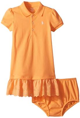 Ralph Lauren Eyelet Polo Dress Bloomer Girl's Active Sets