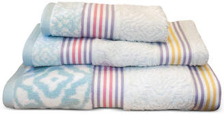 "Dena Lily Cotton Stripe 16"" x 28"" Hand Towel Bedding"