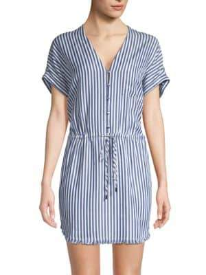 Paige Haidee Stripe Drawstring Dress