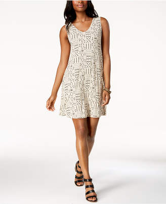 Style&Co. Style & Co Petite Cross-Back Printed Swing Dress, Created for Macy's