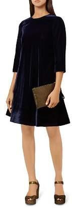 Hobbs London Agnes Velvet Swing Dress