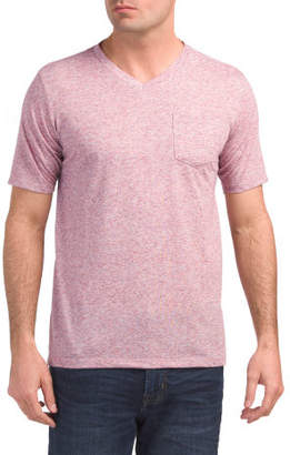 V-neck Textured Knit T-shirt