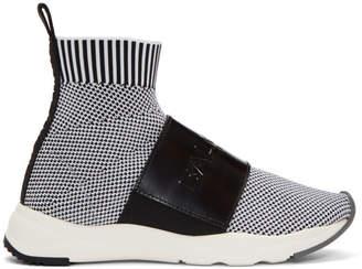 Balmain Black and White Cameron Sneakers