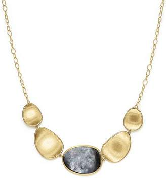 Marco Bicego 18K Yellow Gold Lunaria Black Mother-Of-Pearl Short Necklace, 16.5""