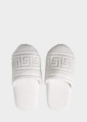 Versace Greca Key Slippers