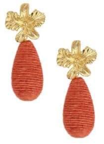 Lizzie Fortunato Citrus 18K Goldplated Cord Drop Earrings