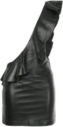 Filles a papa ruffled one shoulder mini dress