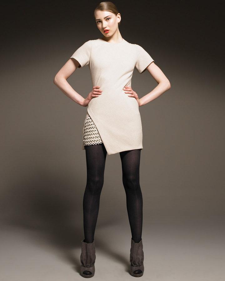 3.1 Phillip Lim Short-Sleeve Grommet Dress