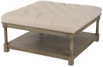 Joe Ruggiero Collection Classico Tufted Ottoman - Parchment
