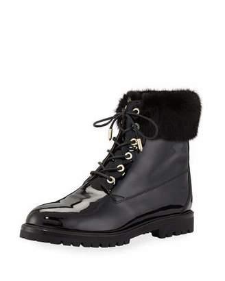 Aquazzura The Heilbruner Combat Boots with Fur