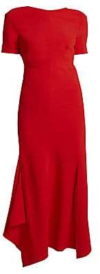 Victoria Beckham Women's Asymmetric Open Back Midi Dress