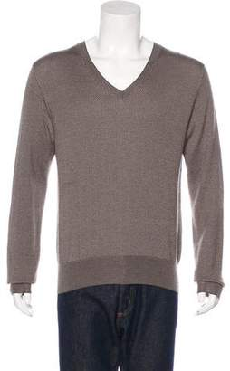 Gucci Cashemre & Silk V-Neck Sweater