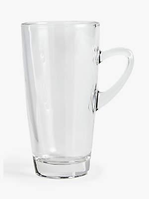 John Lewis & Partners Coffee Connoisseur Slim Glass Kenya Mug, 320ml, Clear