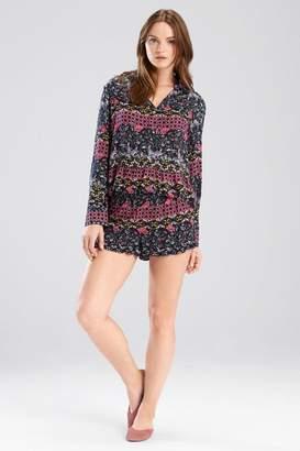 Josie Nomad PJ Shorts Set Black/ Cosmo Pink