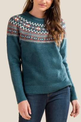 francesca's Jasper Fair Isle Sweater - Pine