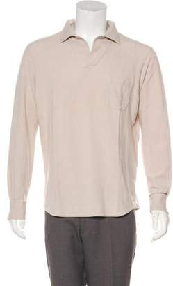 Loro Piana Long Sleeve Polo Shirt