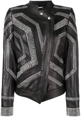 Philipp Plein studded asymmetric jacket